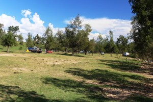 Day use and camping area beside the Clarence