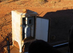 A very old fridge as a mail box