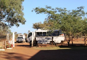 Our tour vehicle at Alaric Station