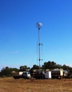 Modern station communications tower