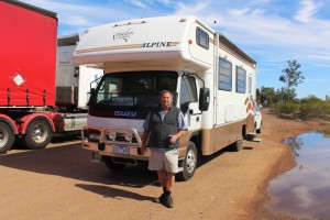 Graeme and his motor home