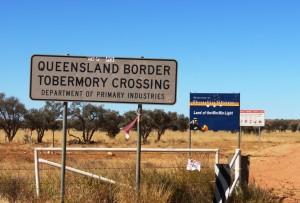 The Qld/NT border