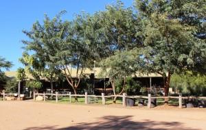 The administration building at Gemtree Caravan Park