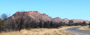 The first real MacDonnell Range after leaving Alice Springs