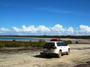 Ready ti drive down the beach