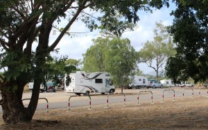 Free camping RVs at Reid River rest stop by the Flinders Highway