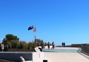 The memorial atop the historic Kissing Point Artillery Battery