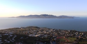 Magnetic Island offshore from Townsville's beach side suburbs