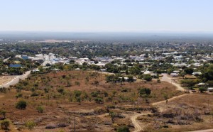 Charters Towers viewed from Tower Hill over mining scared ground