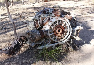 An engine where it came to rest