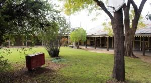 The court yard at Yanga Statiom