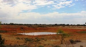 A ground storage tank or dam