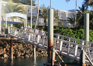 Arrival of the ferry at Daydream Island