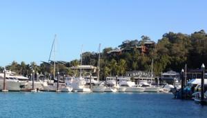 Boats in Hamilton Island harbour