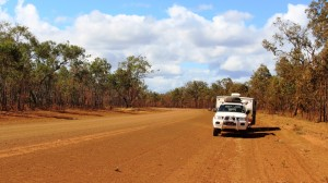 Morning coffee stop on the Cape York Developmental Road about 100 km east of Weipa