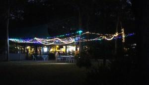 Night view of Punsand Bay restaurant