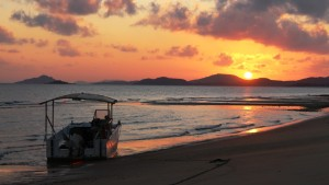 The sun rising over Cape York