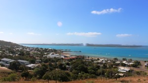 Looking over the town to Horn Island