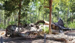 The crash site of a DC3 near Bamaga airport