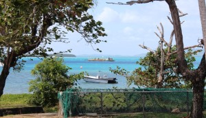 Barge activity in Thursday Island harbour