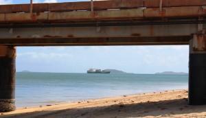 MV Trinity Bay approaching Seisia