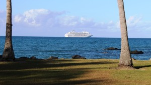 The Pacific Dawn at anchor off Port Douglas