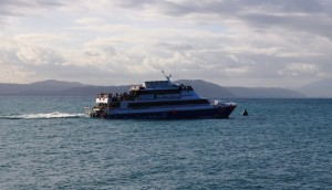 Ferrying passengers back to Pacific Dawn