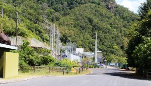 Power substation in Tully Gorge