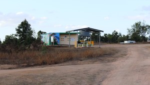Information shelter and toilets at Macrossan Park
