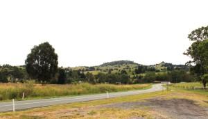 Mount Lindsay Highway wending its way through farmland