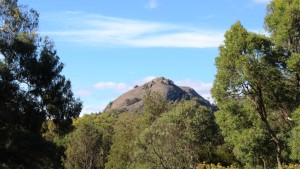 The Pyramid is a prominent feature of Girraween National Park
