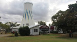 The main feature of Heritage Park is the ex Expo 88 Primary Industries silo