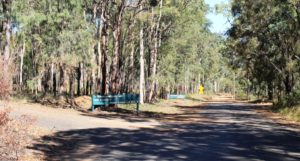 The end of the sealed road at the start of the park plateau