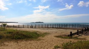 Empty swimming enclosure at Seaforth