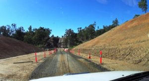 Roadworks. This ravine was much deeper than it appears.