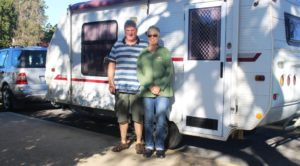 Keith and Linda. Van packed and hitched and ready to go