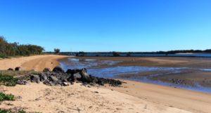 Near the mouth of the Burnett River at Burnett Heads