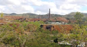 The old gold mine, viewed from a vantage point in the town