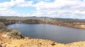 The pit, one of the largest in the Southern Hemisphere, is now almost full of water