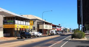 Part of the long main street of Barcaldine
