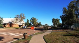 The part of main street at Bedourie