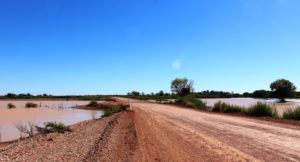 The road over Eyre Creek at Glengyle Crossing