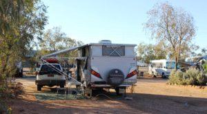 Set up in Birdsville Caravan Park