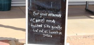 A sign outside of the Birdsville Bakery
