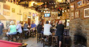 The main bar at the Birdsville Hotel