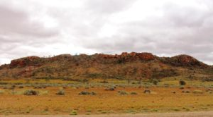 Hills by the road side south of Alice Springs