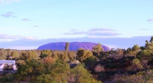 Ayres Rock (Uluru) from the camp lookout