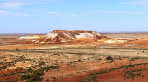 Part of The Breakaways so named as they appear to have broken away from the main body of the Stuart Range