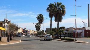 Part of the main street of Port Pirie
